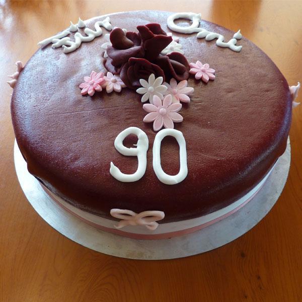 Geburtstagstorte, 90