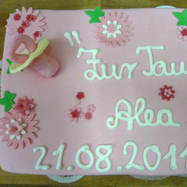 Tauftorte, Alea