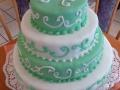 Hochzeitstorte, grün und weiß