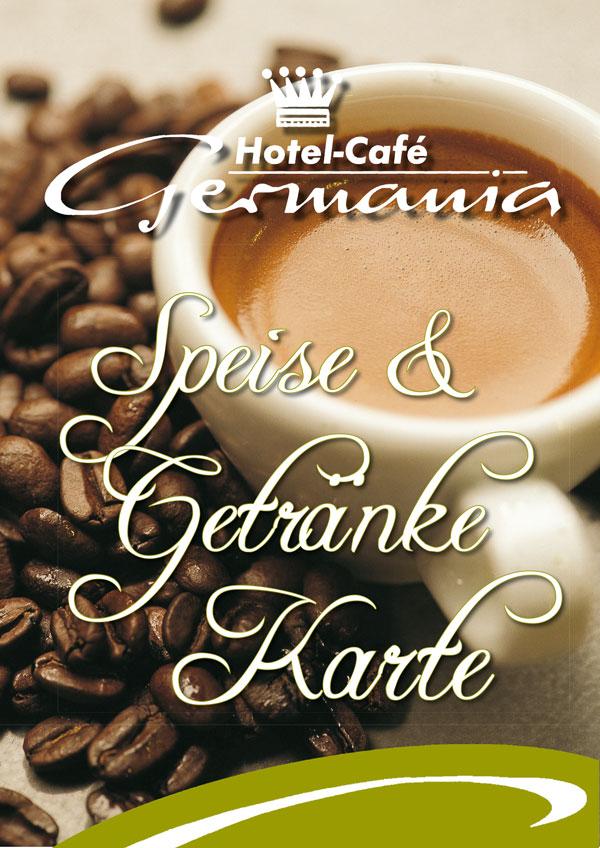 Speise- und Getränkekarte Café Germania