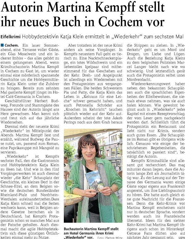 Rheinzeitung 15.06.2015