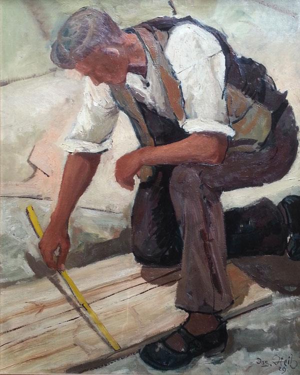 """Josef Steib """"Der Zimmermann"""" 1929"""