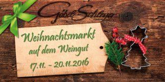 Weihnachtsmarkt auf dem Weingut