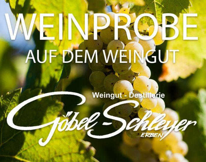 Weinprobe aud fem Weingut